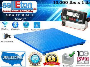 Industrial 40 X 40 Floor Scale Pallet Scale With Metal Indic 10000 Lb X 1