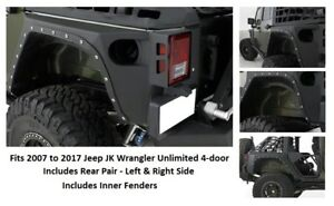 Smittybilt Xrc Rear Fender Armor For 07 17 Jeep Jk Wrangler 4 door