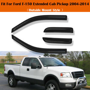 Window Visors Rain Guard Vent 4x For Ford F150 Super Cab Extended Supercab 04 14
