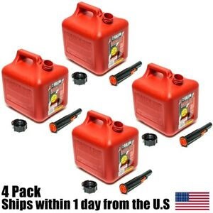 4pk 2 Gallon Red Gas Can Container Midwest Gas Company 2 Gal 2300