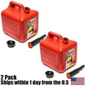 2pk 2 Gallon Red Gas Can Container Midwest Gas Company 2 Gal 2300