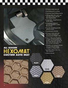 Hexomats All Weather Auto Mats W Oem Fasteners For Honda Element 2003 2011