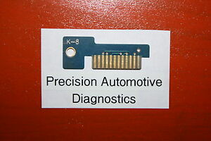 Snap on K 8 Personality Key Mt2500 Mtg2500 Modis Solus Ethos Verus Scan Tool