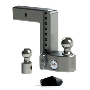 Weigh Safe Adjustable Hitch Ball Mount With Scale 2 5 Shaft 8 Drop Ws8 2 5