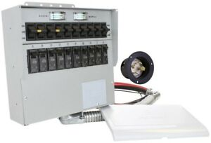 Outdoor Manual Transfer Switch Dual Color Coded Removable Cover 10 Circuits
