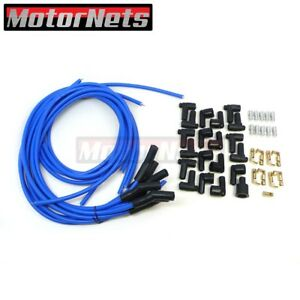 8 5 Mm Blue 135 Spark Plug Distributor Wires Hei Chevy Bbc Sbc Sbf 302 350 454