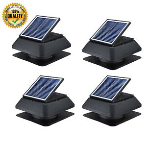 4x 20w Solar Power Industrial Roof Attic Fan 1520cfm Exhaust Ventilation