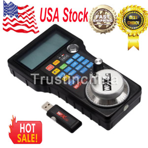 Us Wireless Mach3 Mpg Pendant Lcd Handwheel Controller For Cnc Mach3 4 Axis T