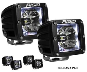 Rigid Industries D Series Radiance Pods With White Back Light Pair