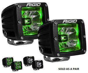 Rigid Industries D Series Radiance Pods With Green Back Light Pair