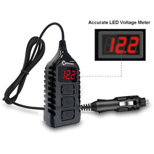Car Led Digital Voltage Meter Display Voltmeter Monitor Gauge With 3 Usb Charger