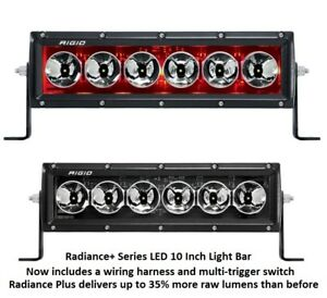 Rigid Industries Radiance Plus With Red Back light Led 10 Light Bar