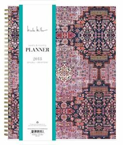 Nicole Miller For Blue Sky 2018 Weekly Monthly Planner Twin wire Binding 8 5
