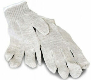 Cotton String Knit Work Gloves Industrial Non disposable Men s Size 252 Pairs