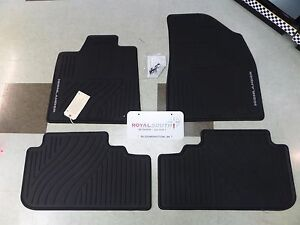 Toyota Highlander Hyb 08 13 Factory All Weather Rubber Floor Mats Genuine Oem Oe