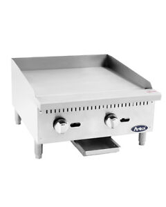 Atmg 24 Atosa 24 Manual Griddle New 60 000 Btu Stainless Steel