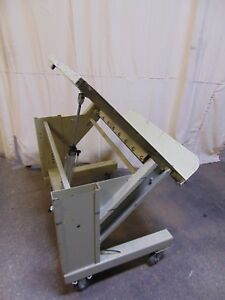 Pneumatic Air Tilt Steel Work Platform Table 36 X 30 45 Degree Tip