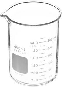 Pyrex Griffin Low Form 400ml Beaker With Double Scale pack Of 12 1000 400