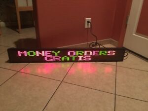Led Programmable Sign 48 X 5 Tested And Working As is