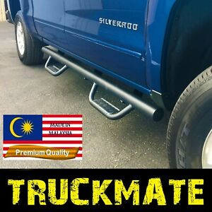 Fit 07 18 Chevy Silverado Gmc Sierra Crew Cab Hoop Running Boards Step Nerf Bars