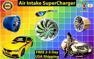 Silver Hybrid Aluminum Acura Performance Air Intake Supercharger Turbo Fan Kit