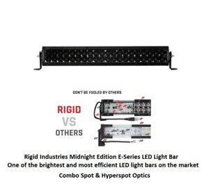 Rigid Industries 20 E Series Pro Midnight Edition Spot Optics Led Light Bar