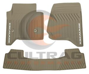 2015 2020 Cadillac Escalade Gm Front 2nd Row All Weather Floor Mats Dune
