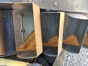 Antique Vintage Metal Farm Grain Elevator Feed Bucket