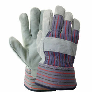 48 Pairs Leather Palm Industrial Gloves Non disposable Protective Hand Wear L