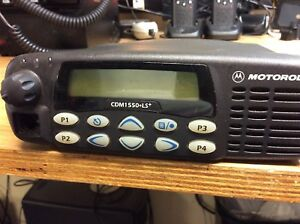 Motorola Cdm1550 Ls Uhf 403 470 40w Bench Tested Guaranteed Fire Ems Ham Gmrs