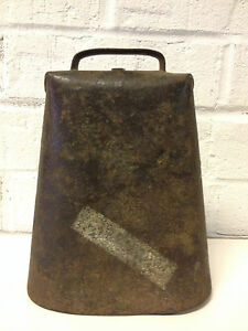Antique Primitive Old Farm Large Metal Cow Bell