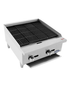 Atcb 24 Hd 24 Char rock Broiler New Commercial Kitchen