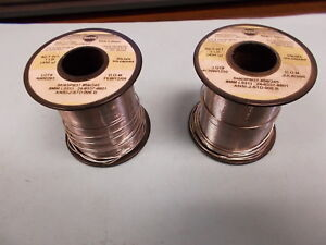 Kester Wire Solder 8mm Sn63pb37 24 6337 8801 Lot Of 2