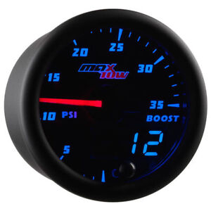 Maxtow 52mm Black Double Vision Double Vision 35 Psi Boost Gauge Mt Bdv0135
