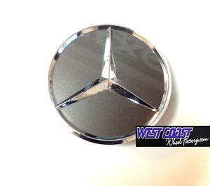 Mercedes Benz Grey Chrome Pop In Wheel Rim Replacement Cover Cap