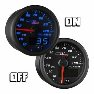 Maxtow 52mm Black Max Double Vision Oil Pressure Gauge Mt bdv04