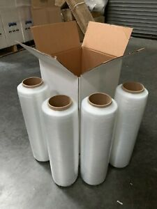 18 X 1500 80 Ga 4 Roll Pallet Wrap Pre Stretch Film Shrink Wrap