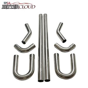 2 5 Stainless Steel T 304 Diy Custom Mandrel Exhaust Pipe Straight Bend Kit