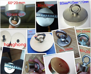 Super strong neodymium n52 magnet rare earth magnets detector with hole rings