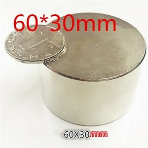 Large Neodymium Disc Magnet n52 Grade Rare Earth Magnet New Super Magnet d60mm