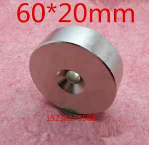 2020 Neodymium Block Magnets 60x60x20mm Strong Rare Earth Lifting Magnets Ring