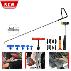 17 Us Pdr Tools Paintless Dent Repair Push Rods Hail Puller Lifter Hammer Tail