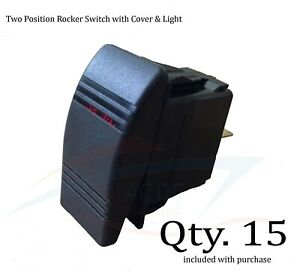 Rocker Switch Two Position On off With Backlighting 15 Pack