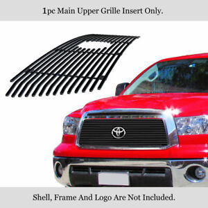 Fits 2010 2013 Toyota Tundra Stainless Steel Black Billet Grille Grill Insert