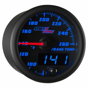 Maxtow 52mm Black Blue Double Vision Transmission Temperature Gauge Mt Bdv12