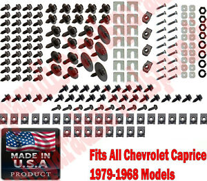 Chevrolet Caprice 1979 1968 Fender Fastener Washers Clip Nuts Retainer Kit