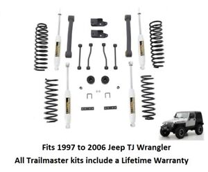 Trail Master 4 0 Inch Lift Kit With Lower Control Arms Springs And Nitro Shocks