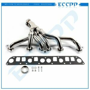 Stainless Manifold Header Exhaust For 1991 1999 Jeep Wrangler Cherokee 4 0l Tj