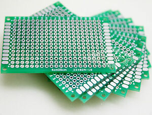 100pcs 4x6cm Double side Protoboard Circuit Fibre Glass Diy Prototype Pcb Board
