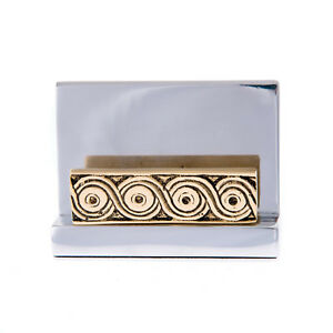Business Card Holder Archaic Design Handmade Modern Solid Metal